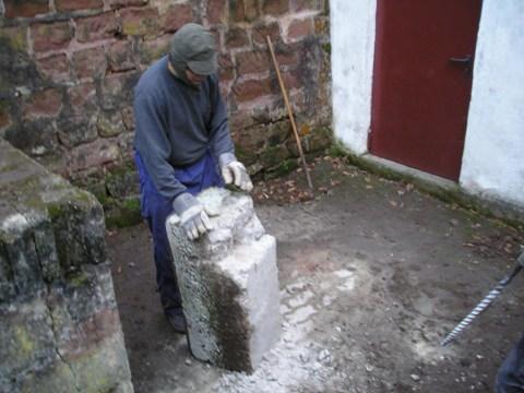 runde pflanzsteine aus beton
